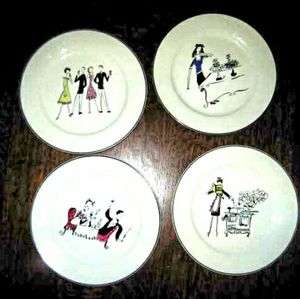A Woman's work is never done salad plate set